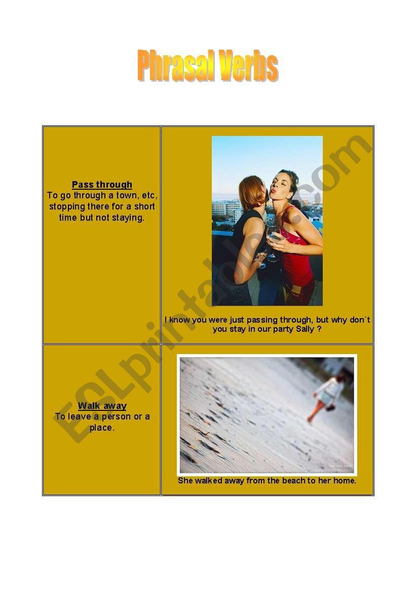 Phrasal verbs - cards [1] worksheet